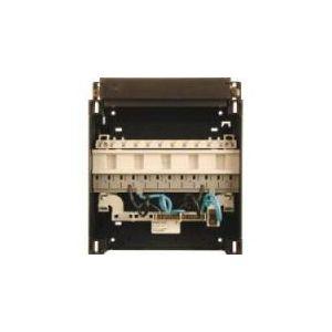 ABB HAF ledige groepenkast opbouw 12 module, met dinrail 3 fase busboard