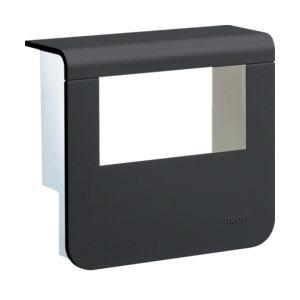 Afdekkap voor outlet 55 mm Zwart