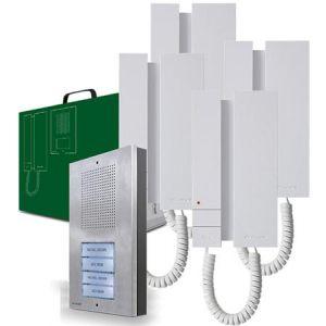 Comelit intercom set (1x buitenpost / 4x binnenpost)