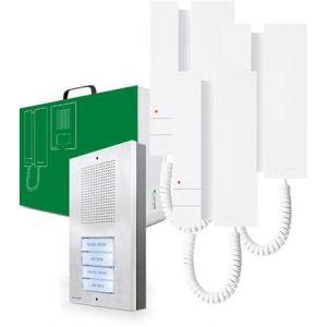Comelit intercom set (1x buitenpost / 3x binnenpost)