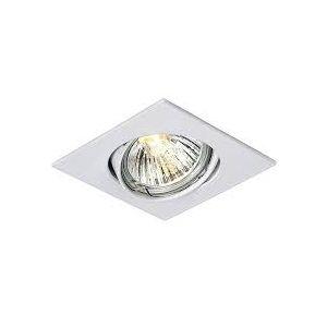 Rocalux inbouw spot vierkant kantelbaar kleur wit inbouwmaat 75mm