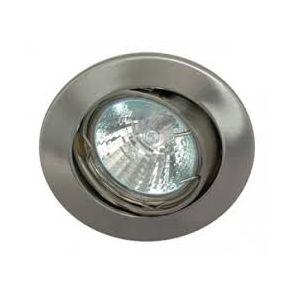 Rocalux inbouw spot kantelbaar kleur geschuurd staal inbouwmaat 75mm buitenmaat 84mm