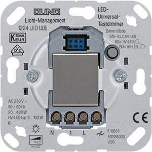 Jung tastdimmer Universeel ook voor LED dimmer 1224 LED UDE