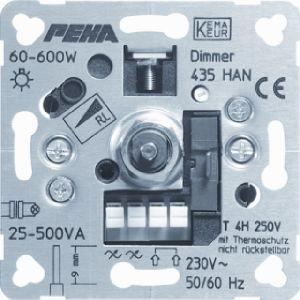 Peha dimmer 20 tot 500 watt met draaiknop bediening