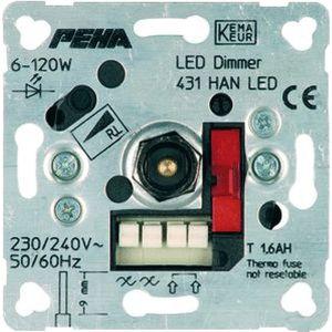 Peha LED dimmer 6 tot 120 watt met draaiknop bediening