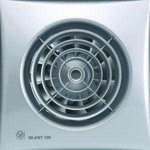 Soler & Palau ventilator Silent 100 CRZ timer zilver