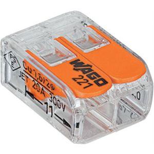 Wago compact 2-voudig lasdop voor soepel en massief draad 2,5 mmq 100st.