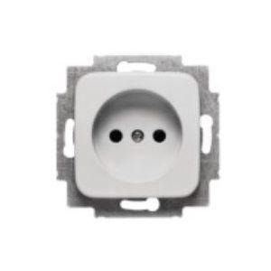 Busch-Jaeger SI 1-voudige wandcontactdoos inbouw zonder randaarde alpine wit