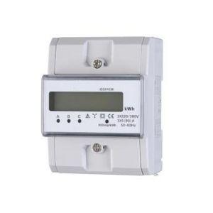3 fase KWH meter digitaal 80 ampere.