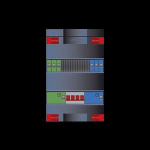 Attema groepenkast met 6-groepen en 3 fase hoofdschakelaar XLAG4343H4