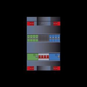 Attema groepenkast met 8-groepen en 3 fase hoofdschakelaar XLAG4444WH4