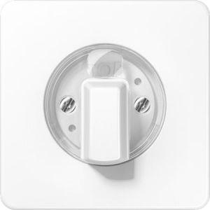 Jung knop + centraalplaat voor timers en jaloezie draaischakelaar alpine wit