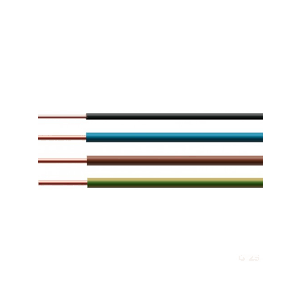 Eldra VD draad voordeelpakket bruin,blauw, groen/geel 2,5mm + zwart 1,5mm ieder 100 meter