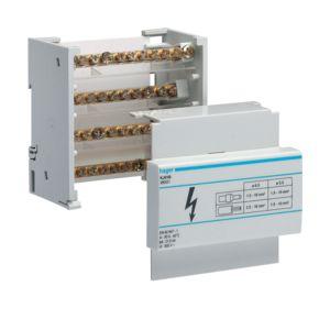 Hager verdeelblok 80 ampere voor dinrailmontage