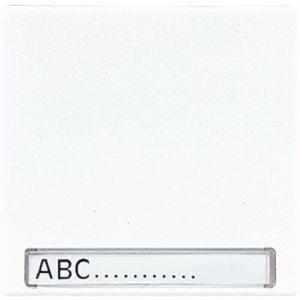 Jung Standaard afdekwip schakelaar Alpine wit met tekstvenster