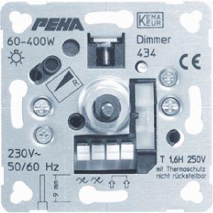 Peha dimmer 60 tot 400 watt met draaiknop bediening