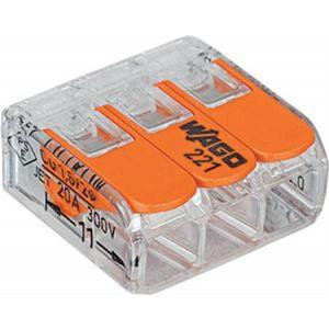 Wago compact 3-voudig lasdop voor soepel en massief draad 2,5 mmq 50st.