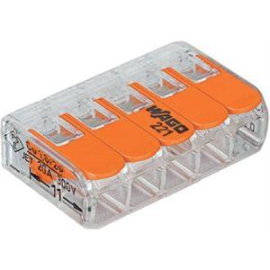 Wago compact 5-voudig lasdop voor soepel en massief draad 2,5 mmq 25st.